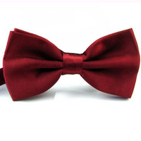 Wholesale New Formal Commercial Bow Tie Unisex Solid Men Butterfly Cravat Bowtie For Gentlement Marriage Waiter YE0001 smileseller