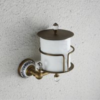 antique toilet roll holder - Toilet paper holder toilet paper roll holder carton Continental antique brass bathroom toilet tissue box compartment A51009