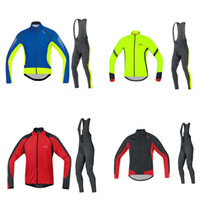 Wholesale gores cycling jersey long sleeves bib pants sets fitness wear roupa ciclismo tight MTB cheap clothing bike wear