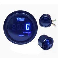 Wholesale New Hot sale quot mm Black Auto Car Vehicle Universal Digital Blue LED Tacho Gauge Meter RPM