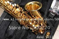 Wholesale Chinaese Alto Dave Sax saxophone With Hard case sax GOLD Color