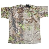 Wholesale Breathable Camo Hiking T Shirt Real tree Men Camouflage Hunting T Shirt Quick Dry Outdoor T Shirt Camping Sport Men T Shirt