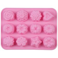 Wholesale Silicone Baking Mould Cake Mooncake Chocolate Fondant Mold Roses Shape