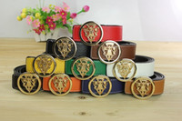 belts direct - 2016 New Hip Brand Upscale Smooth Buckle Designer Belts for Men Woman Popular Genuine Leather Gold Cinto Belts Factory Direct Selling B01