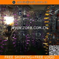 Wholesale 1 m Glow BODY ZORBING BALL BUMPER BALL
