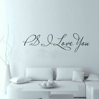 animal quotes inspirational - PS I Love You Wall Art Decal Home Decor Famous Inspirational Quotes Living Room Bedroom Removable Wall Stickers ZY8017