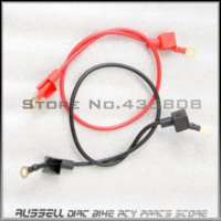 Wholesale Motorcycle battery cable wiring harness with copper conductor For Electric start dirt bike ATV red black cm
