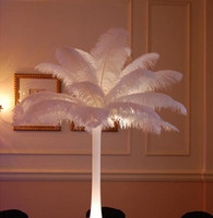 wedding centerpieces - 16 inch Ostrich Feather Plume white Wedding centerpieces table centerpiece