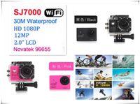 Wholesale 1080P Full HD WiFi Action Camera M Diving Waterproof Sports Camera Original SJ7000 MP Helmet Camcorder Inch LCD CMOS Mini DV Car DVR