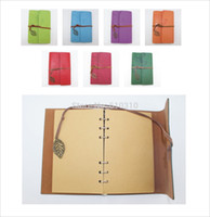 Wholesale colors Vintage Leather Journal notebook Retro Craft Pape Spiral Diary Journals Book korea Stationery