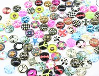 Wholesale 150pcs mm mix designs Art Handmade Photo Glass Cabochon assorted great for earring diy