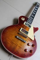 age tigers - Musical instruments LP OEM R9 Tiger Flame Electric guitar aged finished way Ink serial number R8