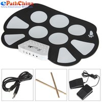 Wholesale W758 Digital Portable Convenient Pad Musical Instrument Electronic Roll up Drum Kit
