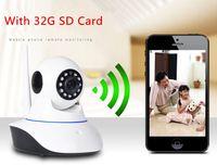 Wholesale Newest HD P WIFI IP Camera P2P Cloud CCTV IR Wireless Security Alarm Webcam with Free G SD Card