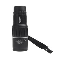 Wholesale 2015 New Compact X52 Zoom Sports Monocular Telescope Mono Spotting Scope for Outdoor Traveling Hiking Camping Black