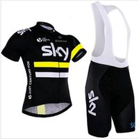 Wholesale S XL Men cycling jersey team sky cycling clothing sets maillot ciclismo Short Sleeves Ropa ciclismo hombre MTB bike jersey BIB Shorts
