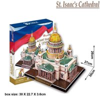 architecture church - D Paper Jigsaw St Isaac s Cathedral of Russia Construction Church Architecture Craft DIY Puzzle Educational Toys for Kids