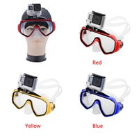 Wholesale new High Quality Underwater Sea Scuba Dive Swimming Glasses Diving Mask with Pedestal for GoPro Hero color