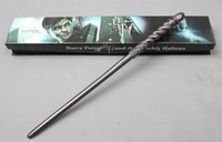 Wholesale Harry Potter cosplay Magic Wand Ginny Weasley s wand cm black COLOR intaglio pattern resinous Non luminous with gift box