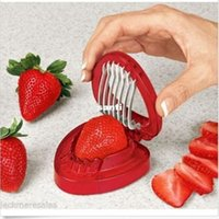 Wholesale Strawberries cut fruit knife SIMPLY SLICE STAINLESS STEEL BLADE STRAWBERRY SLICER DESSERTS