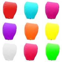 Wholesale Free DHL Fedex Wedding Balloon Oval shape Sky Lanterns Wishing Lamp Kongming Lights For Festival Colors Optional