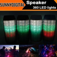 speaker new and brand - Fashion Brand New Wireless Bluetooth Speaker Pulse Portable Support NFC Colorful LED lights U disck and TF card Outdoor Speaker B
