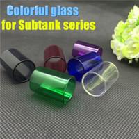 glass tube - 2015 Replacement pyrex colorful glass tube for kanger subtank atomizer subtank mini subtank nano plus triton tank atlantis V2 glass tube