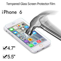 Wholesale 0 mm H glossy Tempered Glass Film Screen Protector for iPhone plus s c s Samsung s5 s4 s3 note no retail package