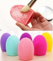 Wholesale Brushegg Silicone Brush Cleaning Egg Brush egg Cosmetic Brush Cleanser Make up Makeup Brush Cleaner Clean tool color