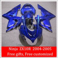 bicycle ninja - Sportbike Fairings Of Kawasaki Ninja ZX R ZX R ZX10R Total Blue Glossy Racing Bicycle Fairing Kits OEM Quality