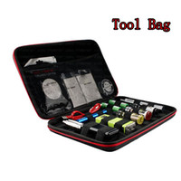 Wholesale New Electronic Cigarettes tool Bags kits VAPE Bags Coil DIY Kit master vapor bag e cigs protable case for RBA RDA DIY tool