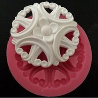 Wholesale New Arrival Beautiful And Fashion Flower Shape Lace Design Fondant Cake Molds Tools Soap Chocolate Mould Bakeware forma silicone chocolate