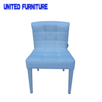 Wholesale high quality simple leather upholstered cheap dining chair white Dining Chairs High Back Modern PU Leather