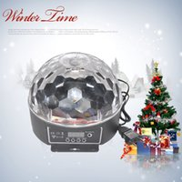 Wholesale DMX512 Disco DJ Stage Lighting Digital LED RGB Crystal Magic Ball Effect Light for Xmas Party and New year Party