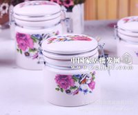 Wholesale Creative direct roses Ceramic Canister family of four ceramic household items JH6001