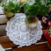 Wholesale cmround pics crochet doilies wedding pot holder for table decor felt as home decoration item IKEA cup mat