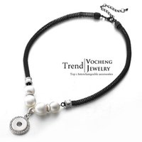 Wholesale Vocheng NOOSA mm Ginger Snap Interchangeable Jewelry Pearl Crystal Button Pendants Necklace NN