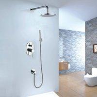 shower mixer - 8 quot Round Brass Shower Head Concealed Shower Sets Fashion Shower Mixer Bath Faucets