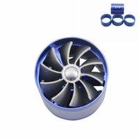 Wholesale Racing Universal Gas Saver Air Intake Car turbo Saver Fan Intake Fan Double Propeller Supercharged Turbo Air Intake
