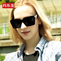 eye protection glasses - Brand New Square Sunglasses Black Coating Sun Glasses Fashion Women Retro Big Full Frame Frog Mirror Beach UV Protection Eyeglasses