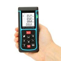 area track - RZE m ft Digital Laser Distance Meter Range Finder Handle Measure Distance Area Volume Measure with Bubble Level order lt no track