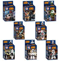 Wholesale New Star Wars Figures styles Building Blocks Sets Minifigure DIY Bricks children kid toys gift