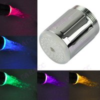 Wholesale New Water Glow Shower Multicolor LED Water Glow Light Faucet Tap Sink RC F04