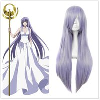 athena wig - Athena Purple Cosplay Wig Halloween Long Layered Straight Classic Synthetic Wigs