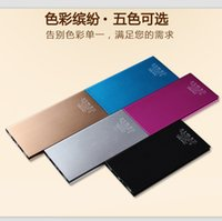power bank charger - 20000mah Power Bank Ultrathin Slim Portable external battery Book power supply Charger emergency battery Powerbank For iphone s New
