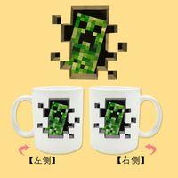 Wholesale Minecraft mugs new minecraft mug kids cup the newest Minecraft Creeper Coffee cups fashion mugs Chiristmas gift