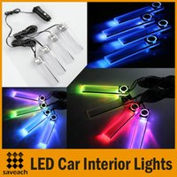 Wholesale in Car LED interior ambient lighting atmosphere within the automotive supplies decorative lights Color Blue