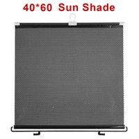 Wholesale 40 cm Auto Retractable Car Windshield Sun Shade Car Window Curtain Blinds Black