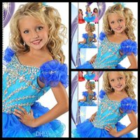 affordable flower girl dresses - Affordable Hand made Flower Short Beads Crystal Off The Shoulder Girl s Pageant Dress Gown New Arrival