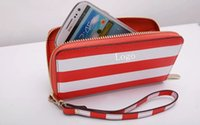 Wholesale Fashion MK handbag cases for Samsung galaxy note2 note4 s3 s4 s5 mk Stripe new handbag cases wallet purse leather mobile phone case